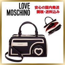 Love Moschino Heart 2WAY Plain Handbags