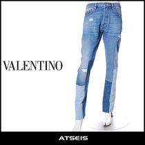 VALENTINO Street Style Cotton Jeans