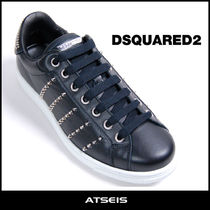 D SQUARED2 Studded Street Style Plain Leather Sneakers