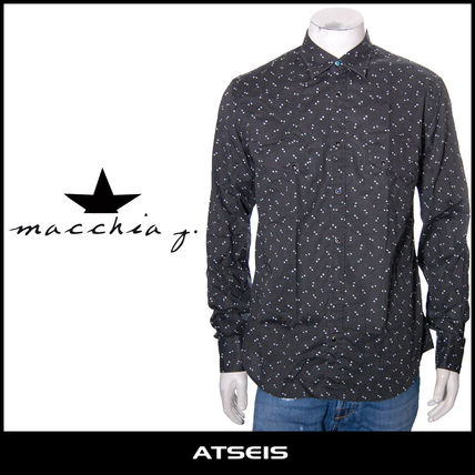 Star Street Style Long Sleeves Cotton Shirts