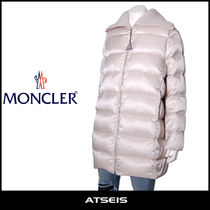 MONCLER Street Style Plain Medium Down Jackets