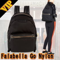 Stella McCartney FALABELLA Casual Style Unisex Nylon A4 2WAY Plain Backpacks