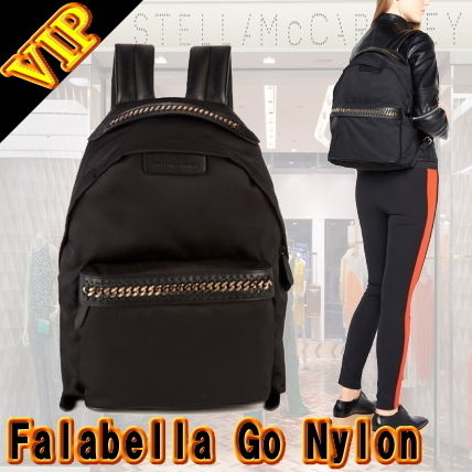 Casual Style Unisex Nylon A4 2WAY Plain Backpacks