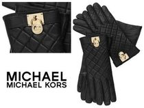 Michael Kors Leather Leather & Faux Leather Gloves