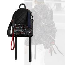 CHANEL Casual Style Calfskin 2WAY Backpacks