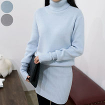 Casual Style Long Sleeves Plain Medium Dresses