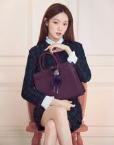 LOVCAT Studded A4 2WAY Plain Leather Totes