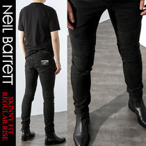 NeIL Barrett Plain Cotton Jeans & Denim
