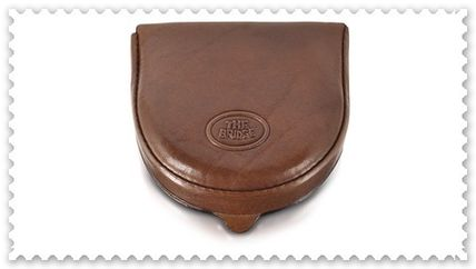 Unisex Plain Leather Small Wallet Coin Cases