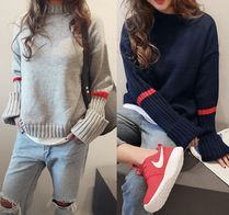 NANING9 Puff Sleeves Sweaters