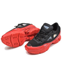 RAF SIMONS Street Style Collaboration Plain Leather Sneakers
