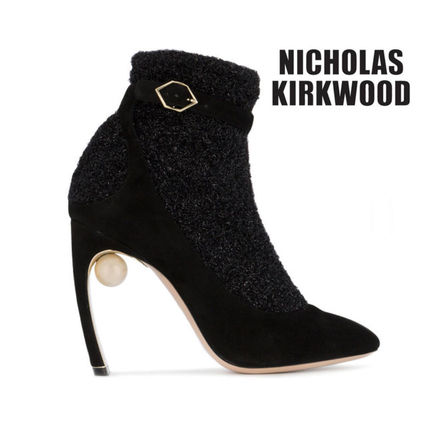 Suede Elegant Style Ankle & Booties Boots