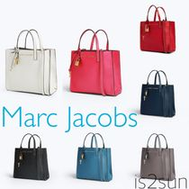 MARC JACOBS A4 2WAY Plain Leather Office Style Totes
