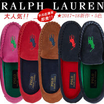 Ralph Lauren Platform Casual Style Suede Plain Loafer Pumps & Mules