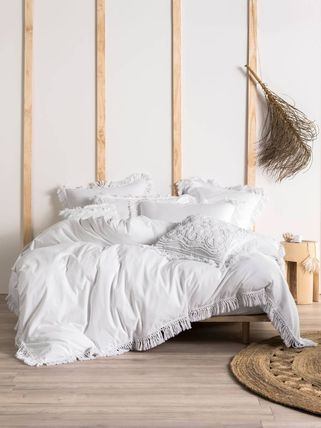 Plain Fringes Comforter Covers Duvet Covers