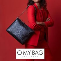 O MY BAG A4 2WAY Plain Other Animal Patterns Leather Handmade