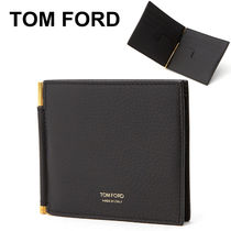 TOM FORD Plain Leather Folding Wallets