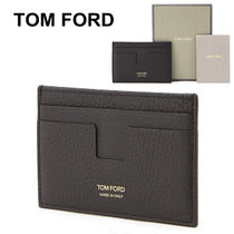 TOM FORD Unisex Plain Leather Card Holders