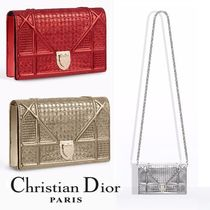 Christian Dior DIORAMA 2WAY Chain Leather Party Style Clutches