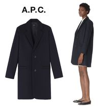 A.P.C. Wool Elegant Style Chester Coats