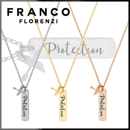 Casual Style Silver 18K Gold Necklaces & Pendants