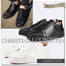 Christian Louboutin Plain Toe Street Style Plain Leather Sneakers