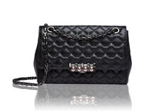 LOVCAT Studded Street Style Chain Plain Leather Shoulder Bags