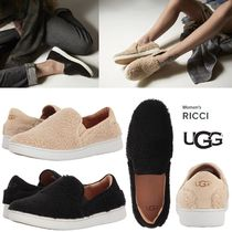 UGG Australia Round Toe Rubber Sole Casual Style Faux Fur Blended Fabrics