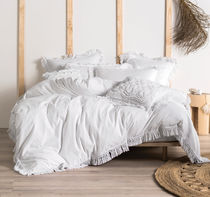 LINEN HOUSE Plain Fringes Comforter Covers Duvet Covers