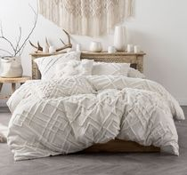 LINEN HOUSE Plain Fringes Comforter Covers Geometric Patterns