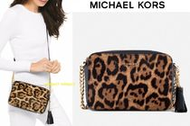 Michael Kors GINNY Leopard Patterns Casual Style Street Style Leather