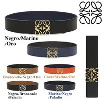 LOEWE Bi-color Plain Leather Elegant Style Belts