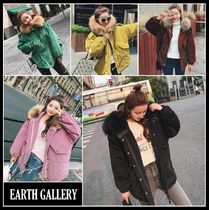 Street Style Plain Medium Oversized Parkas