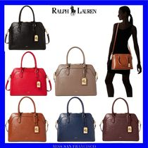 Ralph Lauren Saffiano Plain Office Style Handbags