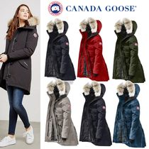 CANADA GOOSE ROSSCLAIR Camouflage Fur Plain Medium Down Jackets