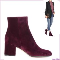 Gianvito Rossi Plain Elegant Style Chunky Heels Ankle & Booties Boots
