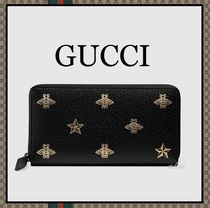 GUCCI Star Unisex Other Animal Patterns Leather Long Wallets