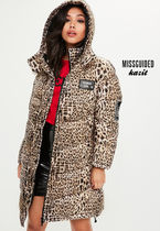 Missguided Other Animal Patterns Long Down Jackets