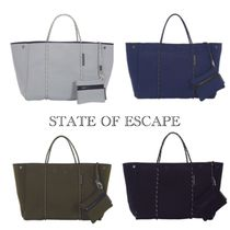 State of Escape A4 2WAY Plain Elegant Style Totes
