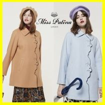 Miss Patina Wool Other Animal Patterns Medium Elegant Style Coats