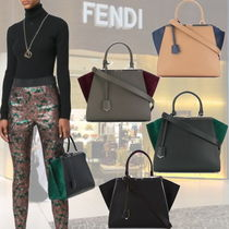FENDI 3JOURS Bi-Color Handbag / Charcoal Grey & Grass Green