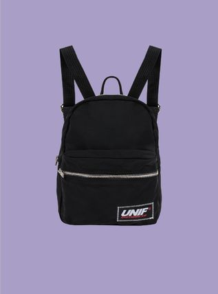 Casual Style Unisex Nylon Plain Backpacks