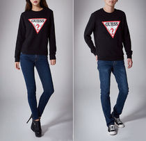 Guess Casual Style U-Neck Long Sleeves Cotton Medium