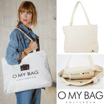 O MY BAG Casual Style Unisex Canvas A4 Totes