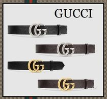 GUCCI Blended Fabrics Plain Leather Belts