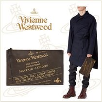 Vivienne Westwood Unisex Leather Clutches