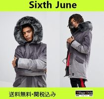 Sixth June Faux Fur Street Style Plain Long Parkas