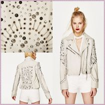 ZARA Studded Leather Biker Jackets