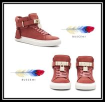 BUSCEMI Rubber Sole Casual Style Plain Leather Low-Top Sneakers