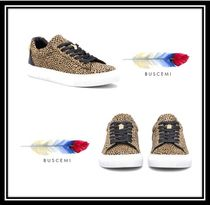 BUSCEMI Rubber Sole Casual Style Other Animal Patterns Leather
